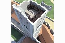 Vizualizace zpřístupněné vyhlídkové věže v Břeclavi.