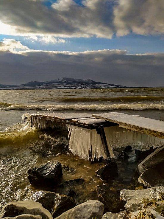 Pohled na zimní Nové Mlýny. Foto: Miroslava Jakubíčková