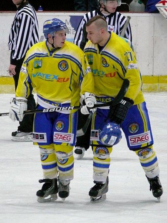 Břeclavské Lvy čeká další duel. Na jejich led zamíří hokejisté Jindřichova Hradce.