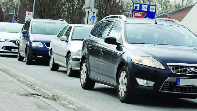 Dopravní situace v Břeclavi. Ilustrační foto.