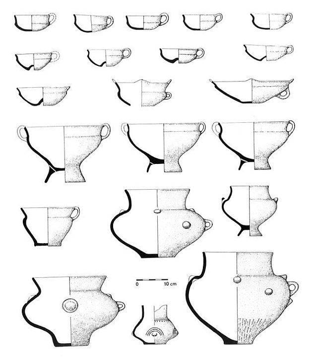 Depot keramických nádob středodunajské mohylové kultury z Lednice.