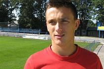 Dominik Šilinger, pravý obránce třetiligového celku fotbalistů MSK Břeclav.