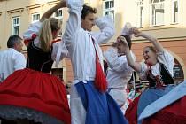 Moravskou besedu tančila i chasa z Březí.