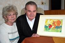 Gabriela Dubská své kresby a olejomalby věnovala také přátelům a rodině.