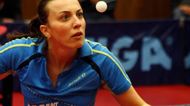 Břeclavská stolní tenistka Aneta Kučerová.