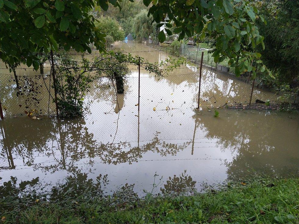 Sobotní situace u Hodonína od čistírny odpadních vod a můstku do Mikulčic.