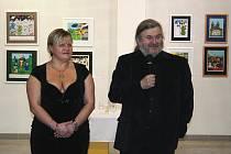 František Ringo Čech zahájil svou výstavu v břeclavském muzeu.