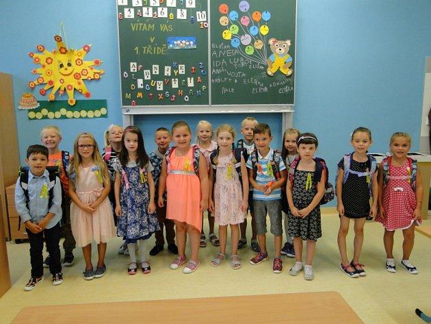 Základní škola a mateřská škola Vranovice. 1.B třídu učí Jitka Vydrová.