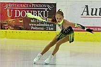 Jedna z břeclavských závodnice vystoupila v neděli 19. září na exhibičním hokejovém utkání mezi Olympem Praha a Hruškami.