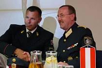 Šéf jihomoravských policistů Tomáš Kužel a bezpečnostní ředitel policie Dolního Rakouska Franz Brucher.