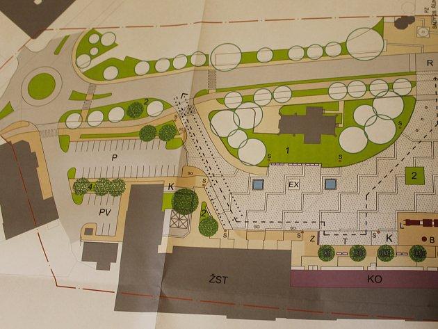 Břeclavské přednádraží bude v novém. Návrhy architektů Karla Božka a Jiřího Zálešáka na novou podobu tohoto místa.