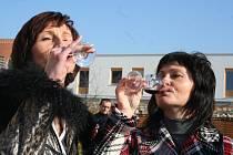 Ochutnávka Svatomartinského vína na Kraví hoře. Nechyběla tradiční husa ani cimbálka.