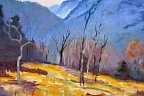 Martina Hofbauerová ze Šakvic maluje nejraději olejem.