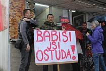 Demostrace v Břeclavi.