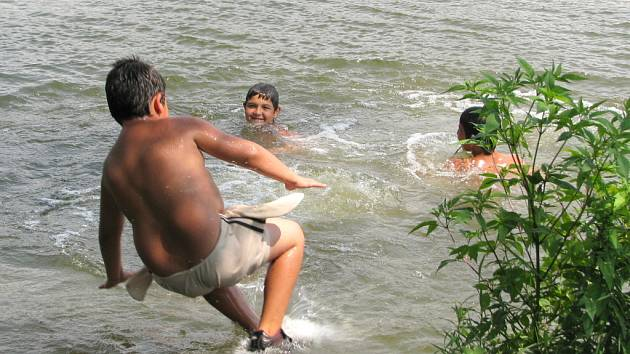 Horké letní dny lákají k osvěžení ve vodě.