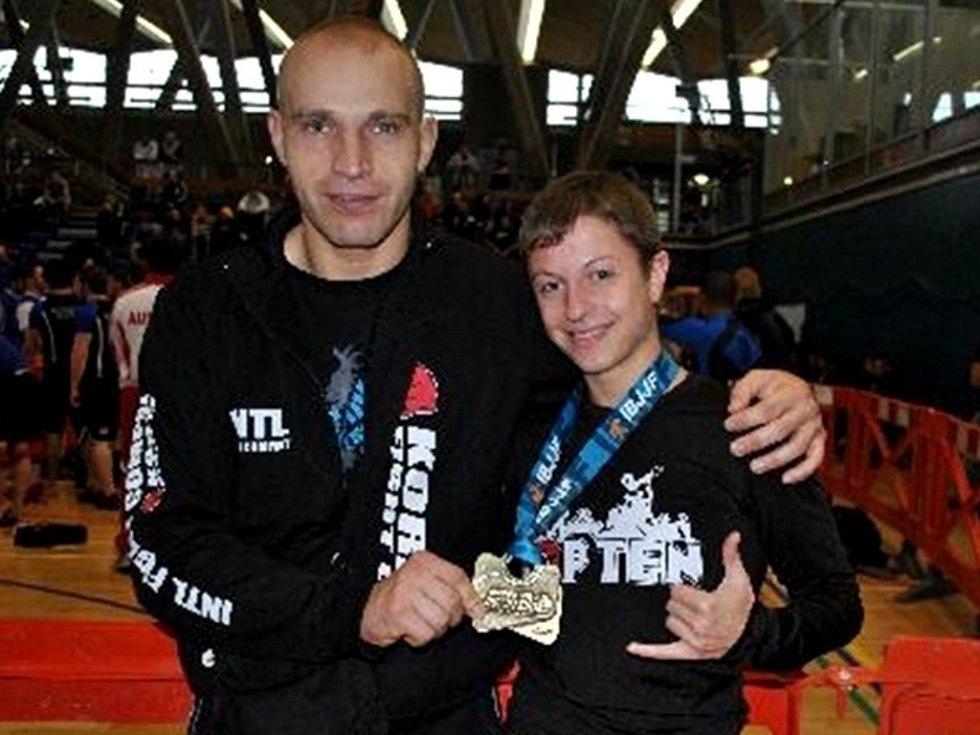 Michaela Dostálová se svým trenérem Michalem Bittnerem.