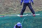 Díky umělohmotnému povrchu je svah v Němčičkách, který leží ve výšce pouhých sto osmdesát metrů nad mořem, momentálně jediným na jihu Moravy, kde se lyžuje.