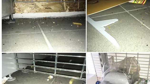 Inspektoři uzavřeli sklad společnosti Billa v ulici 1. Máje v Břeclavi.