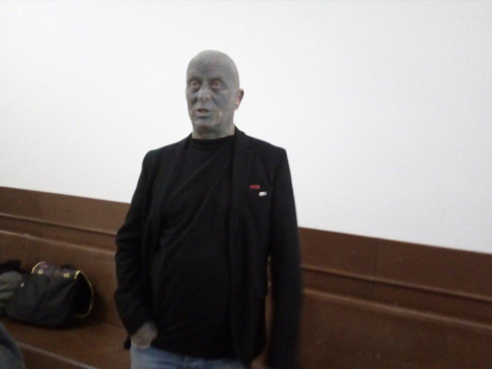 Známý umělec Vladimír Franz vypovídal v pátek jako svědek u břeclavského soudu v případu obviněného exkastelána Michala Tlustáka.