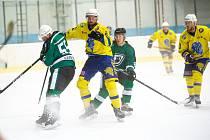 Hodonínští hokejisté otočili přípravný duel v Břeclavi.