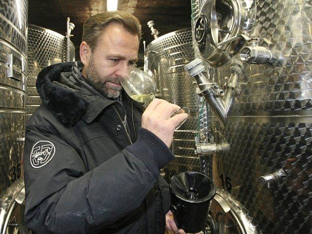Vinař Petr Marcinčák.