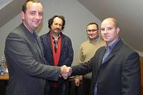 Předsedou místní organizace hnutí ANO v Břeclavi se stal nynější zastupitel okresního města Lukáš Makovec (vpravo).