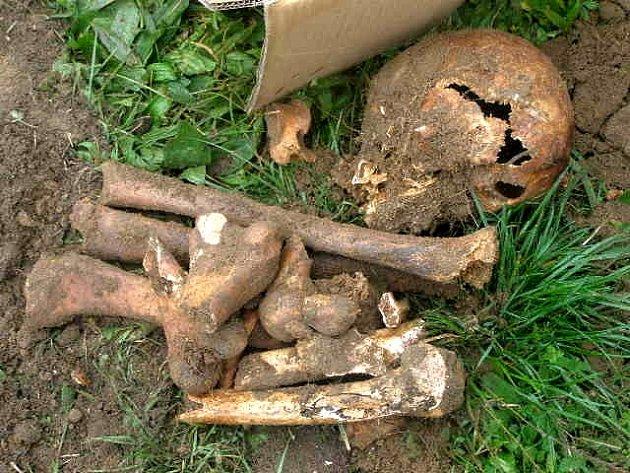 Na místo nálezu kostí přijeli břeclavští strážníci.
