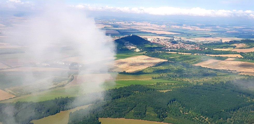 Letecký pohled na Mikulov.