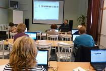 Počítačový kurz v břeclavské knihovně.