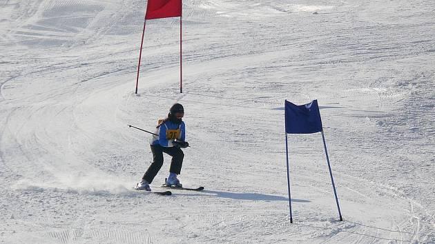 Ideální počasí na svah přilákalo stovky závodících lyžařů.