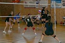 Volejbalistky TJ Lokomotivy Břeclav.