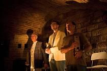 Hlohovecké Dvorní divadlo se v pondělí představilo ve Valtickém Podzemí. Ve hře Kumšt hrál i Lukáš Hejlík.