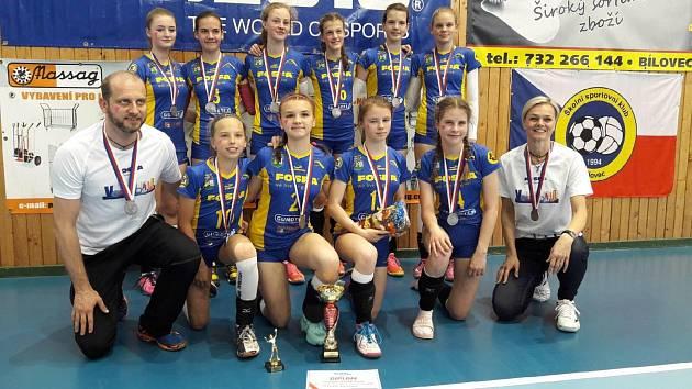 Předloni slavily mladší žákyně Lokomotivy Břeclav titul vicemistryň republiky. Letos si moc volejbalové radosti neužily.