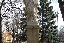 Socha svatého Jana Nepomuckého v Moravské Nové Vsi.
