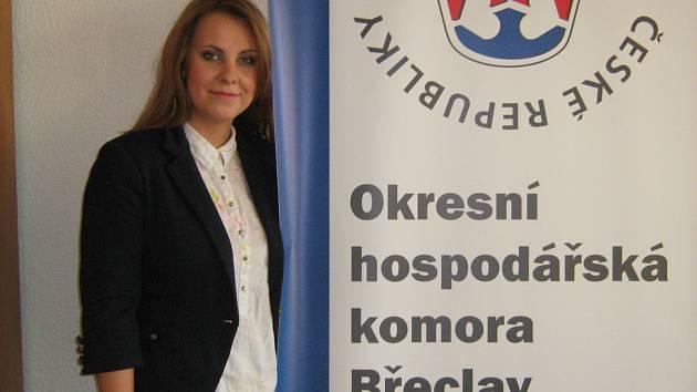 Vendula Dobiášová z Okresní hospodářské komory Břeclav.