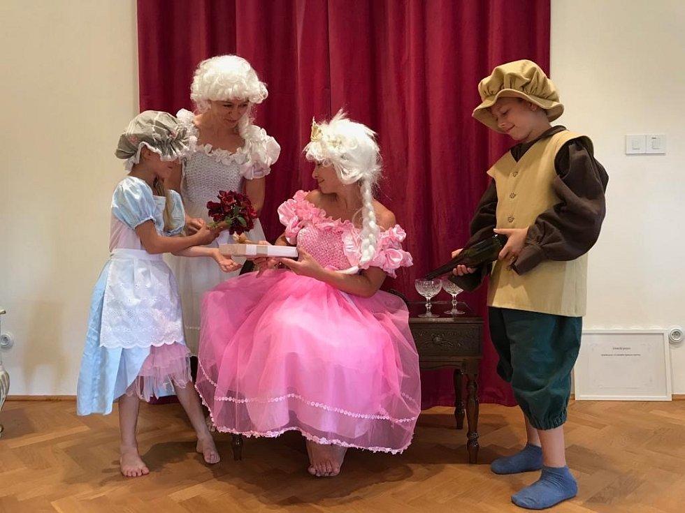 Barokní herna na zámku v Lednici
