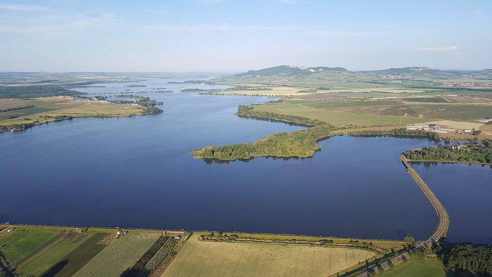 Letecký pohled na Nové Mlýny.