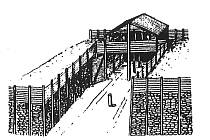 Vizualizace koridorové brány keltských oppid