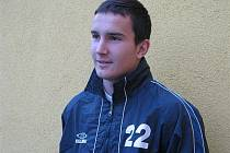 Středový obránce fotbalové devatenáctky MSK Břeclav Josef Nešpor.