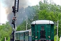 Tradiční vyhlídková jízda parního vlaku na trati Břeclav - Lednice.