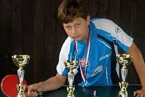 Mladý stolní tenista MSK Břeclav Jan Vašíček.