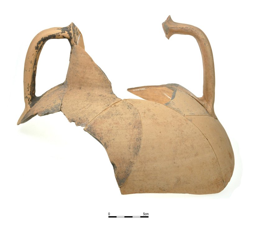 Fragment džbánu vyrobeného v provincii Panonnia z germánského sídliště v Pasohlávkách (Archiv AÚ AV ČR, Brno, v. v. i.)