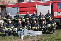 Jednotka tvrdonického sboru dobrovolných hasičů.