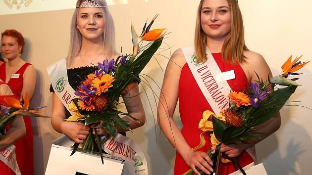 Klára Klimecká (vlevo) ze Střední vinařské školy ve Valticích se stala Královnou vín České republiky pro rok 2017.
