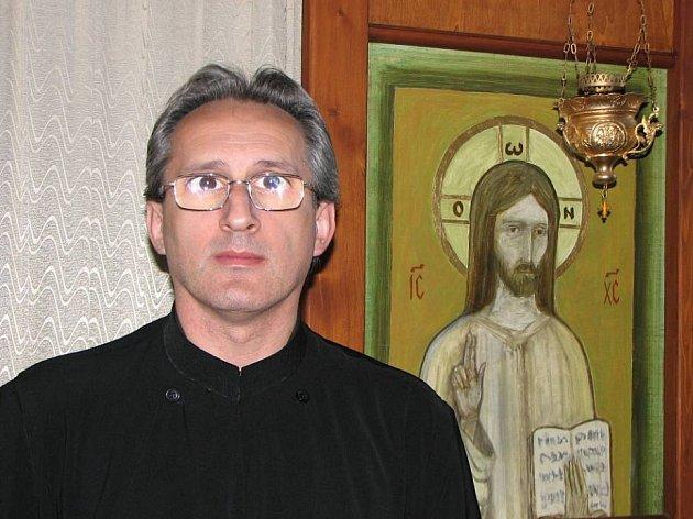 Flaviu Badelita je duchovním otcem v jediném pravoslavném kostele na Břeclavsku, v Mikulově.