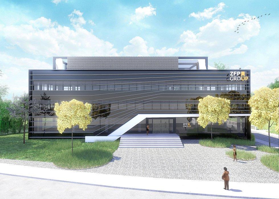 Takto bude vypadat opravená budova na náměstí T. G. Masaryka v Břeclavi. Českou pojišťovnu v ní nahradí společnost ZFP Group manželů Poliakových.