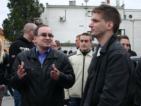 Předseda DSSS Tomáš Vandas.