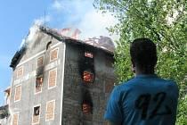 Požár břeclavského mlýna.