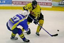 Břeclavští hokejisté uspěli ve třetím zápase finálové série a jsou krůček od vítězství.