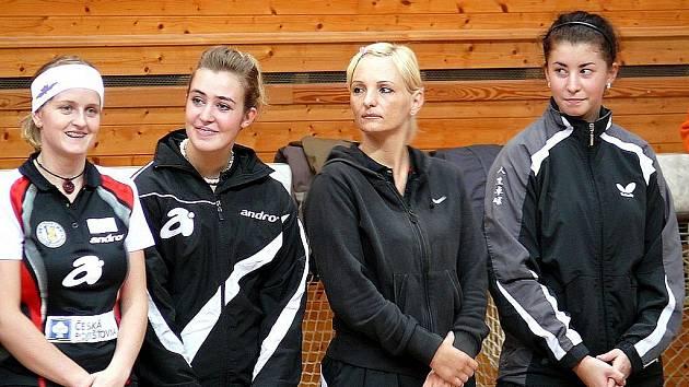 Stolní tenistky MSK Břeclav.